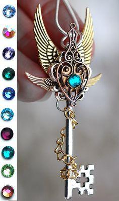 Handmade Omens of Destiny Key Necklace