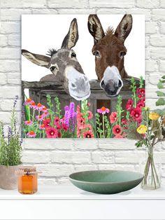 "#gicleeprint on canvas #walldecorart #wallart #donkeyart #donkeyprint #homedecor #walldecor #autism #autismawareness Canvas on 11/2""stretchers."