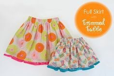 Full Skirts with Trimmed Tulle peeking out