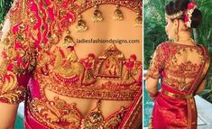 Featured on South Asian Bride bridal saree blouse design South Indian Blouse Designs, Traditional Blouse Designs, Blouse Designs High Neck, Best Blouse Designs, Wedding Saree Blouse Designs, Designer Blouse Patterns, Indian Designer Wear, Lady, Instagram