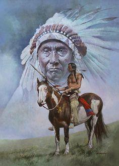 Chief Joseph by Chris Collingwood Native American Drawing, Native American Warrior, Native American Paintings, Native American Pictures, Native American Symbols, Native American Beauty, Native American Artists, Native American History, American Indian Tattoos