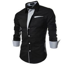 2015 New Casual Shirts Long-Sleeved Men Shirt Business Casual Slim