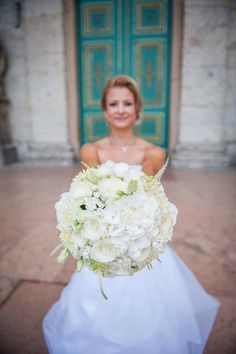 Tone in Tone - Tone in Tone White Bouquets, Floral Design, Bridal, Wedding Dresses, Fashion, Self, Bride Gowns, Wedding Gowns, Moda