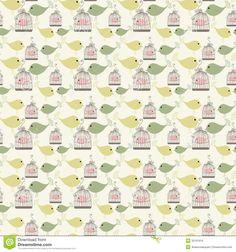 vintage bird patterns - Google Search