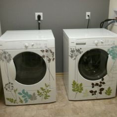 Wall Decals to dress up your washer