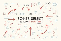 Font Select ICON by davidiscreative on Creative Market