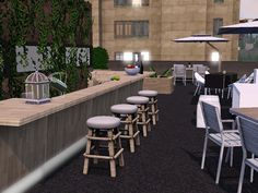 Café Bar, Conference Room, Interior Design, Garden, Table, Furniture, Home Decor, Nest Design, Garten