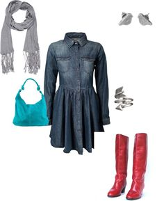 """""""Denim Dress - Simple"""" by c-kennedy624 on Polyvore"""