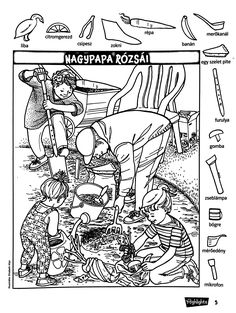 Hidden Picture Games, Hidden Picture Puzzles, Family Coloring Pages, Coloring Books, Ivan Cruz, Hidden Pictures Printables, Highlights Hidden Pictures, Hidden Images, Hidden Objects