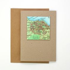 Personalised Map Square Card from notonthehighstreet.com
