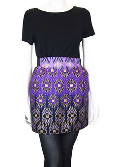 MILLY - skirt in Purple African print | Mollie Brown Online boutique