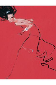 Valentino illustration by David Downton