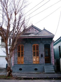 [small tiny blue and brown home, quaint and adorable - Athena]