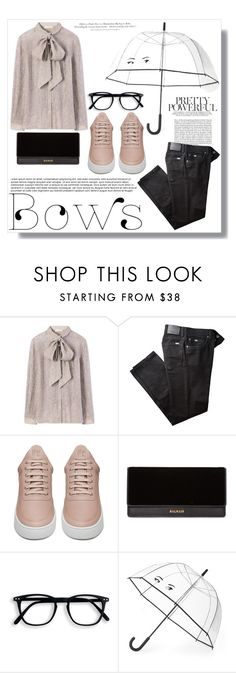 """Put a bow on it 2"" by sheetal2002 ❤ liked on Polyvore featuring Whiteley, Tory Burch, BRAX, Filling Pieces, Balmain, Kate Spade and H&M"