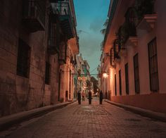 Cuba - Old Havana at dawn. Looking towards Bodeguita del Medio - the alleged birthplace of the Mojito and a favorite place of Gabriel Garcia Marquez and Pablo Neruda.It's supposedly also one of the places Ernest Hemingway frequented.