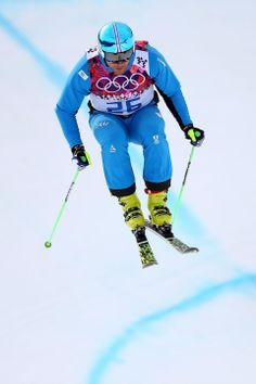 DAY 14:  Patrick Koller of Austria competes during the Freestyle Skiing Men's Ski Cross http://sports.yahoo.com/olympics