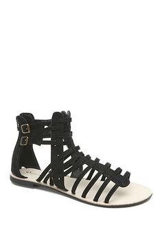 Qupid Athena Strap Gladiator Sandals at PacSun.com