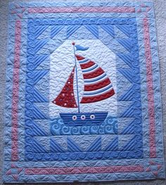 .Quiltscapes.: Come Sail Away...Cute for a baby boy; GREAT stitching  http://quiltscapesquilting.blogspot.com/2012/07/come-sail-away.html?utm_source=feedburner_medium=email_campaign=Feed%3A+Quiltscapes+%28quiltscapes%29