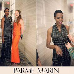 The fabulous #cocomitchell during last week presentation @parkhyattny #topmodel #80 #nyfw #parmemarin #jewelry