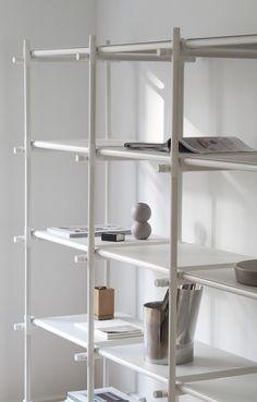 Sticks shelving  system by menu. Minimal living