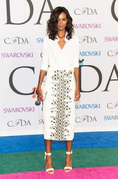 Liya Kebede in Wes Gordon. Photo: Gilbert Carrasquillo/FilmMagic/Getty Images.