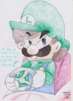 Luigi's Death Stare by SilvaLucyStar on DeviantArt Mario Fan Art, Super Mario Art, Mario And Luigi, Mario Bros, Mario And Princess Peach, Videogames, Nintendo, I Am Awesome, Fanart