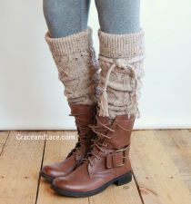 Alpine Thigh High Slouch Sock - Oatmeal Tweed thick cable knit socks w/ fold over cuff and tassel tie - boot sock leg from Grace and Lace. Slouch Socks, Cable Knit Socks, Boot Socks, Knitting Socks, Grace And Lace, Outfit Invierno, Boot Cuffs, Material Girls, Classy Outfits