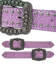 Pink or Teal Stingray Belt Spur Straps