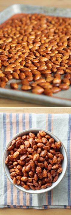 There are spiced nuts, and then there are SPICED nuts. While other recipes might only bring a mild dose of heat, these almonds are far from meek. Savory, smoky, spicy, and salty (with the addition of bacon salt), they prove addictive in a similar way to Doritos and other intensely flavored snacks.                                                                                                                                                      More