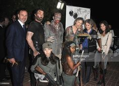 Andrew Lincoln & Melissa McBride with some cosplayers