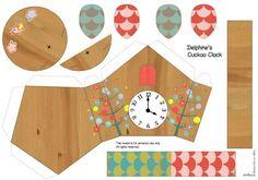 clock bird house to print: