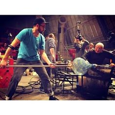 #blowing #blowing #blowing - First day at #museumofglass  Nice picture from Museum of Glass, @museumofglass   #linotagliapietra #glassblower #glassblowing #art #design #museum #artist