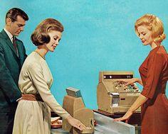 Cafeteria line, 1960s