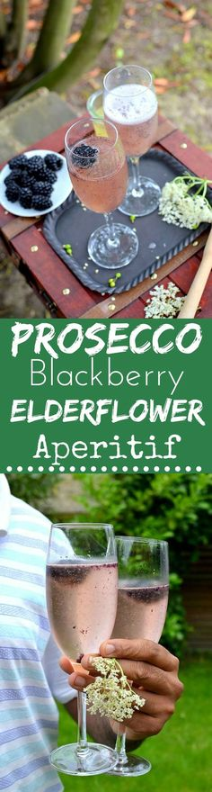 This Prosecco, Blackberry & Elderflower Aperitif is a beautiful drink full of summer's fleeting flavors. Enjoy it while you can!