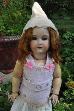 Antique pink dotted bebe doll corset SALE! by bebesandbruins on Etsy