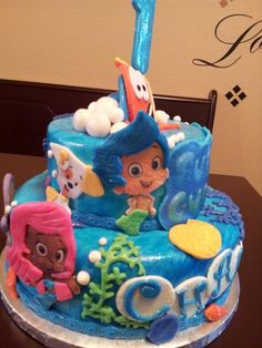 Bubble guppies Cake By Misty Wood - DFW Area For Ordering Information www.mistywood.wix.com/enticingicing