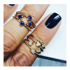 Our gal @athousandfacets in the Trillion Birthstone stackers