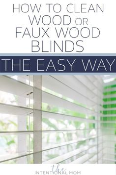How do I clean my wood blinds easily? How do I clean faux wood blinds? It's simple & fast to do both - no special tools or cleaners needed! House Cleaning Tips, Diy Cleaning Products, Cleaning Solutions, Deep Cleaning, Spring Cleaning, Cleaning Hacks, Cleaning Schedules, Cleaning Recipes, Weekly Cleaning