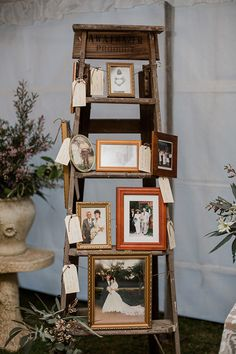 Remember lost loved ones at your wedding with a display of vintage wedding photos | Bless Photography via Chic Vintage Brides