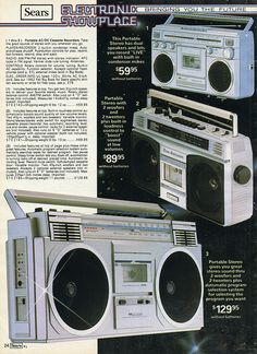 Boom Box...I remember looking at the sears Christmas catalog for hours!!