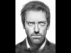 """House"" Hugh Laurie iPad Finger Painting by Olechka (Olga Shvartsur)"