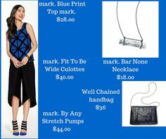 Looking for a stylish, yet fun new outfit. This adorable set will do the trick! #avon #markgirl #fashion #culottes #heels #shoes