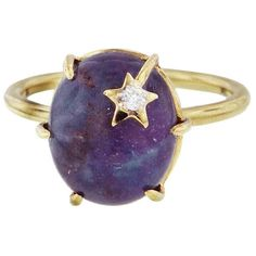 Andrea Fohrman Ruby Kyanite and Clear Quartz Mini Star Ring ($1,980) ❤ liked on Polyvore featuring jewelry, rings, rose, 18k ring, quartz ring, rose quartz ring, clear quartz jewelry and rose jewellery