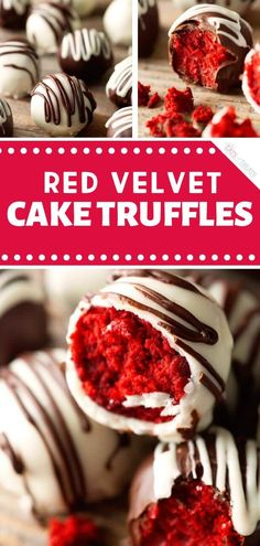 Sweeten your romantic dinner ideas for two at home with Red Velvet Cake Truffles. - Sweeten your romantic dinner ideas for two at home with Red Velvet Cake Truffles! The ultimate deca - Valentines Baking, Valentine Desserts, Valentines Day Desserts, Fancy Desserts, Christmas Desserts, Fancy Recipes, Valentine Cookies, Christmas Candy, Red Velvet Truffles