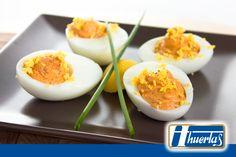 #receta de Huevos rellenos con Mousse de Chorizo HUERTAS #RecetasDeLaHuerta on.fb.me/22N9gYN