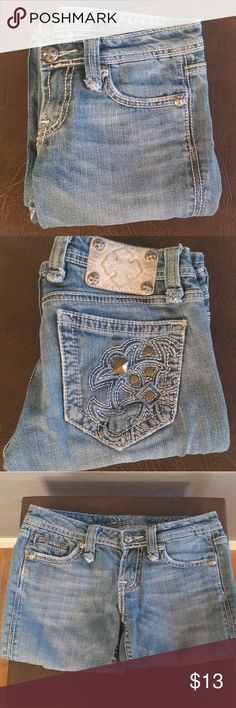 """Miss Me Jeans Blue Jeans w/White Stitching  30"""" Waist 31"""" Inseam Cotton, 2% Elastane Bundle and Save Miss Me Jeans"""