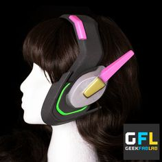 D.Va replica headset by GeekFabLab on Etsy