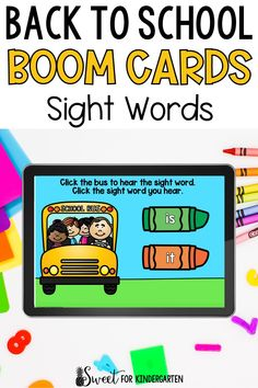 Need a fun way to practice sight words this back to school season? These Boom Cards are super engaging and perfect for kindergarten and first grade students. The sight word activities included are great digital literacy center ideas for young learners. Click the pin to see the digital task cards included in this back to school resource! Fry Sight Words, Teaching Sight Words, Sight Word Activities, School Resources, Learning Resources, Beginning Of Kindergarten, Digital Literacy, Center Ideas, Literacy Centers