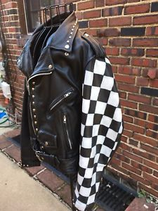 Details About Mens Victory Lane Biker Real Cowhide Leather