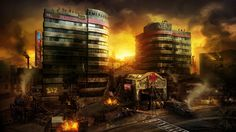 Cidade destruida 4K HD Wallpaper
